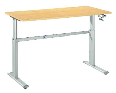Schreibtische mit Handkurbel